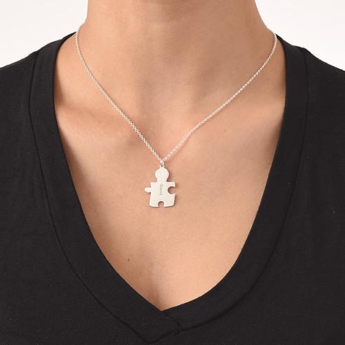 Collana con Puzzle Personalizzato in Argento 925 - 4