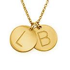 Collana con Iniziale Charm Placcata in Oro