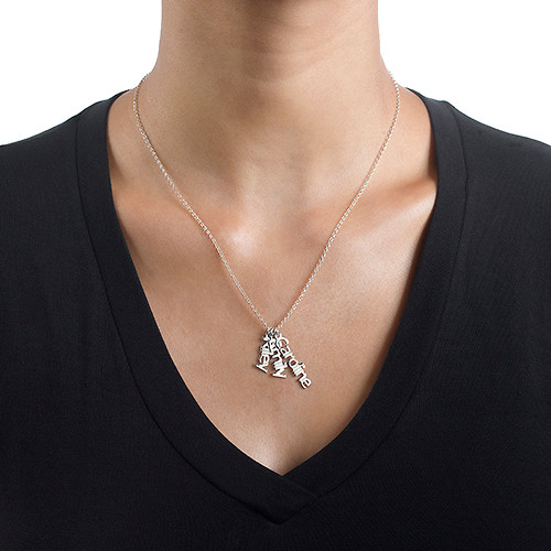 Collana con Nome in Verticale in Argento Sterling - 2