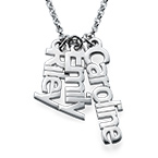 Collana con Nome in Verticale in Argento Sterling