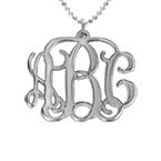 Collana con iniziali Monogramma in  argento