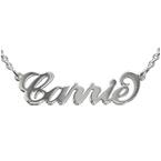 """Collana con nome stile """"Carrie"""" in argento doppio spessore e catenina ad anelli"""