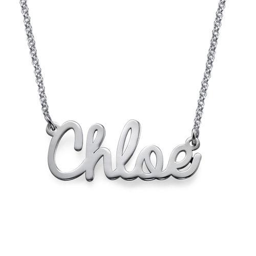 Collana con nome in corsivo in argento
