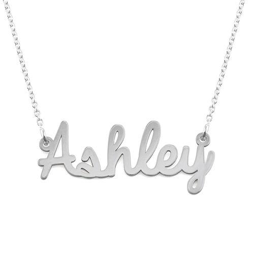 Collana con nome in corsivo in argento - 1