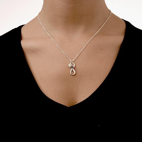 Collana con pendente Infinito e Perla di Acqua Dolce - 2