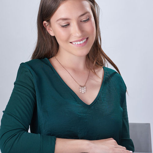 Collana della Mamma con pendente Bimbi Incisi - In Oro Placcato Rosa - 4