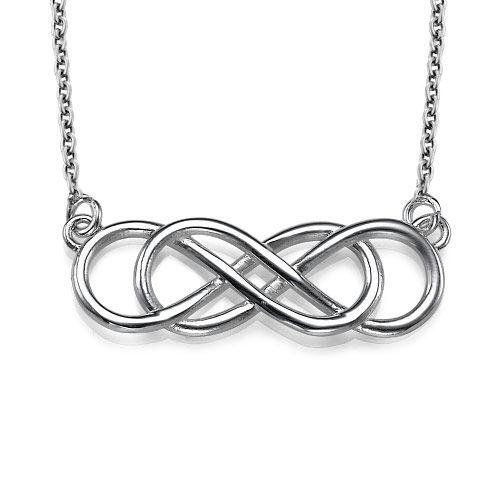 Collana doppia infinito in argento sterling