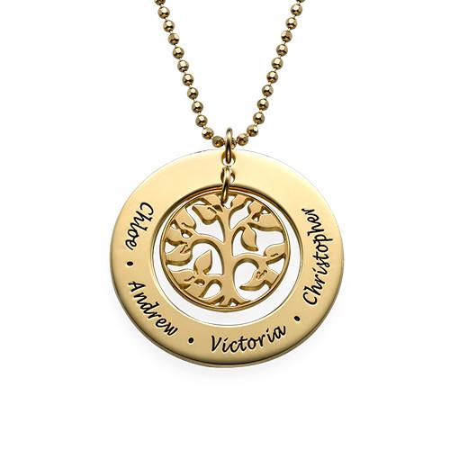 Collana in 18k Oro Placcato con Albero Genealogico