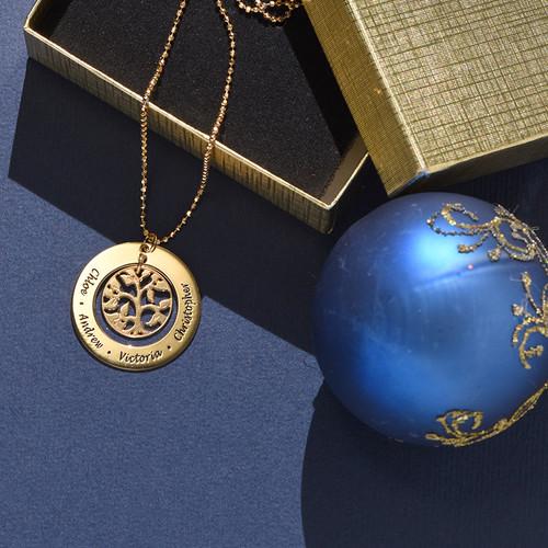 Collana in 18k Oro Placcato con Albero Genealogico - 2
