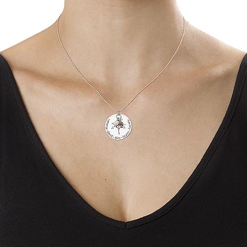 Collana in Argento Sterling con Pendente Albero della Vita - 1