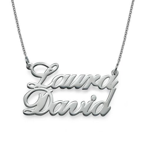 Collana in argento con due nomi