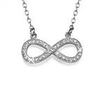 Collana infinito con diamanti CZ