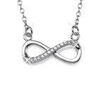 Collana infinito in argento con zircone cubico