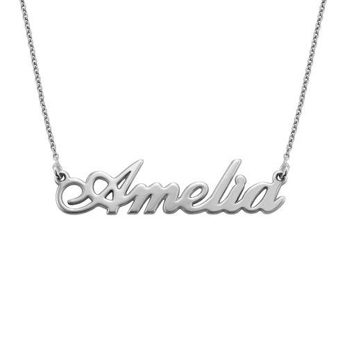 """Collana con nome personalizzato con ciondolo piccolo stile """"Carrie"""" in Argento 925 - 1"""