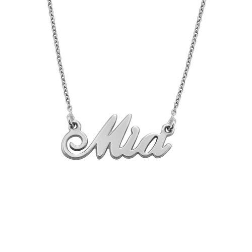 """Collana con nome personalizzato con ciondolo piccolo stile """"Carrie"""" in Argento 925 - 2"""