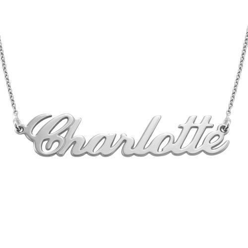 Collana con nome personalizzato carattere classico in argento 925 - 2