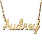 Gioielleria Personalizzata – Collana con nome in corsivo in oro placcato 18K