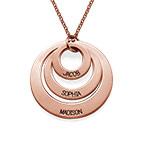 Gioielli per la mamma – Collana a Tre Dischi Placcata in Oro Rosa 18K