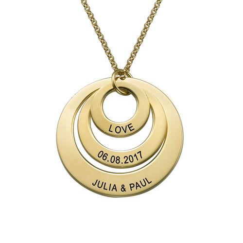 Gioielli per la mamma – Collana a tre dischi placcata in oro 18K - 2