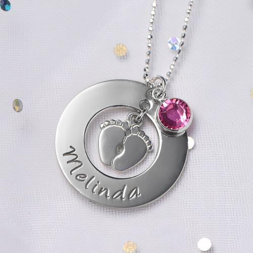 Nuova Collana Per Mamma Con I Piedi Del Bebé - 4