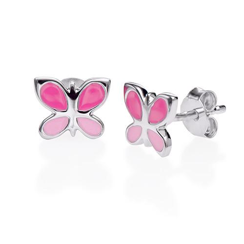 Orecchini per Bambini con Farfalle Rosa