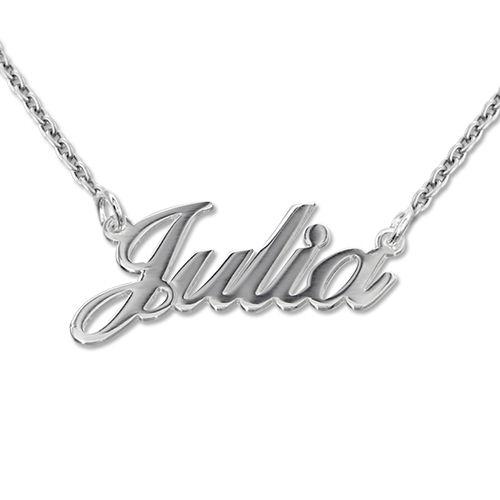 Piccola collana personalizzata con nome carattere classico in argento 925
