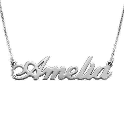 Piccola collana personalizzata con nome carattere classico in argento 925 - 1
