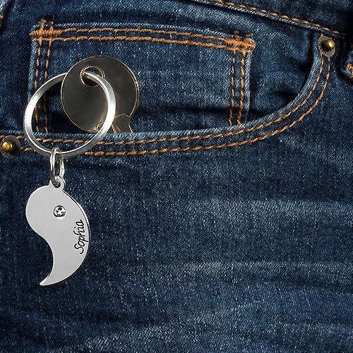 Portachiavi Personalizato Yin Yang per Coppie - 3