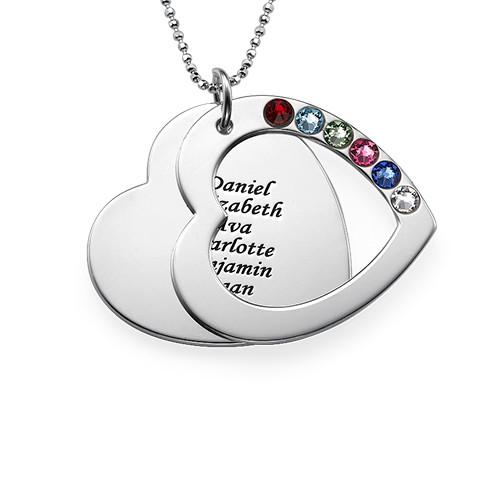 Regalo Personalizzato Per La Mamma Collana Cuore Famiglia - 1