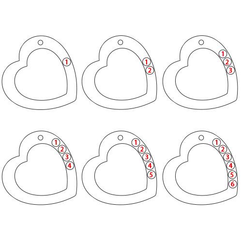 Regalo Personalizzato Per La Mamma Collana Cuore Famiglia - 2