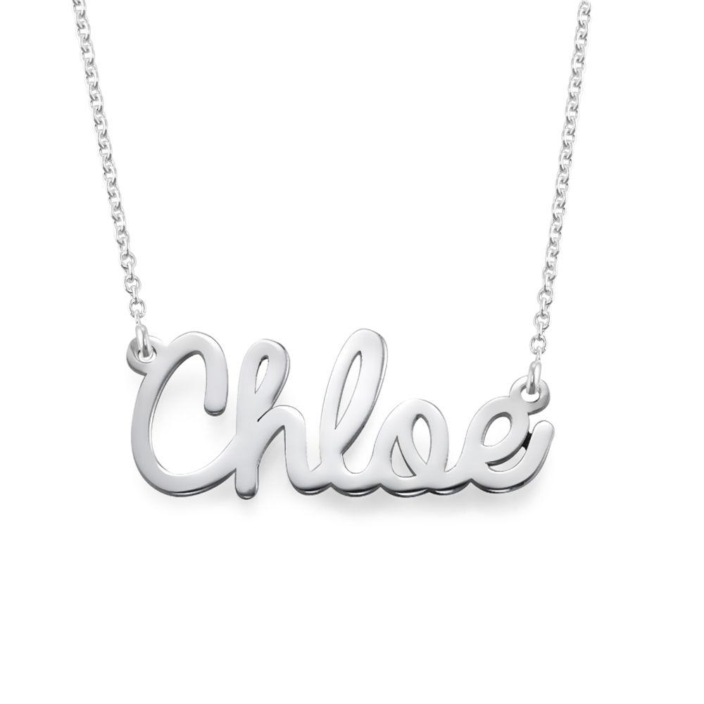 Collana con nome in corsivo in argento product photo