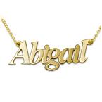 Collana con nome personalizzato doppio spessore personalizzata in oro 14k