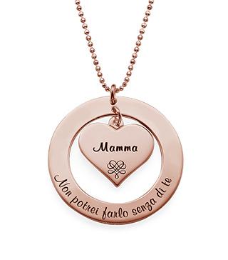 Collana per la Nonna o la Mamma Placcata in Oro Rosa