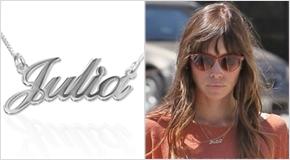 Jessica Biel con Collana con nome personalizzato in argento 925