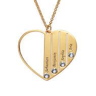 5ba627d58d23 Collar para Mamá con Piedras de Nacimiento chapado en oro
