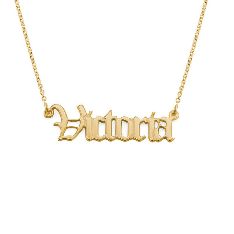 Collar con Nombre Antiguo chapado en oro de 18k - 2