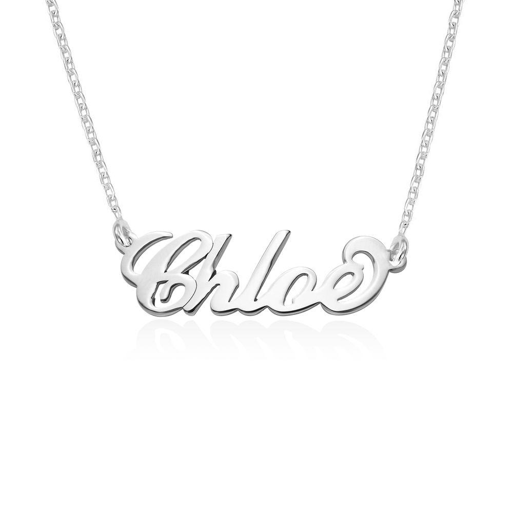 """Collar Pequeño con nombre estilo """"Carrie"""", plata"""