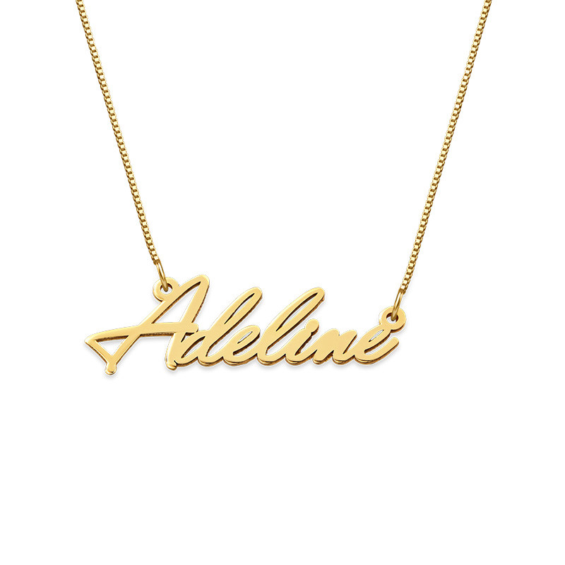 Diminuto Collar con Nombre en Oro 14K