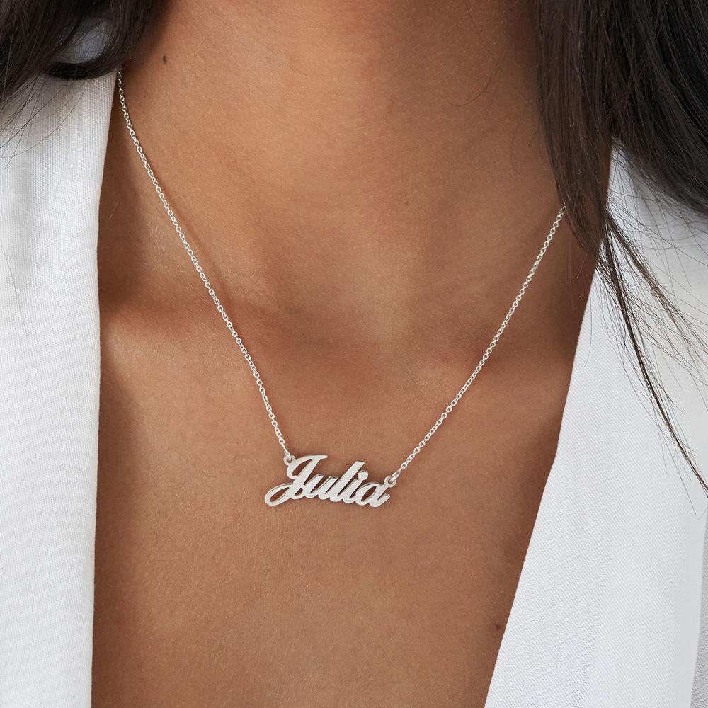 Collar Clásico Pequeño de Plata con Nombre - 3