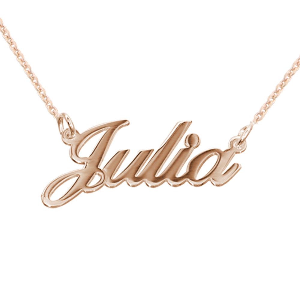 Collar Clásico Pequeño con Nombre Chapado en Oro 18k