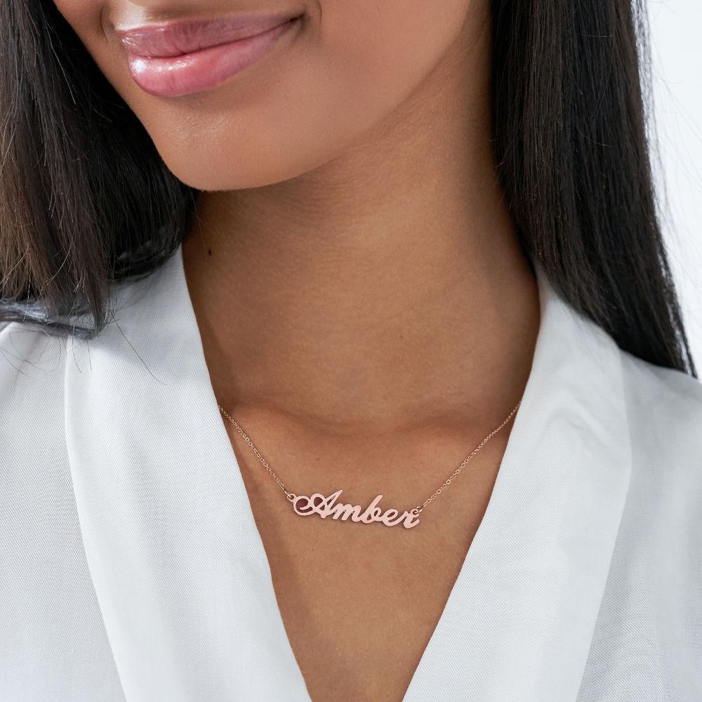 Collar Clásico Pequeño con Nombre Chapado en Oro 18k - 2