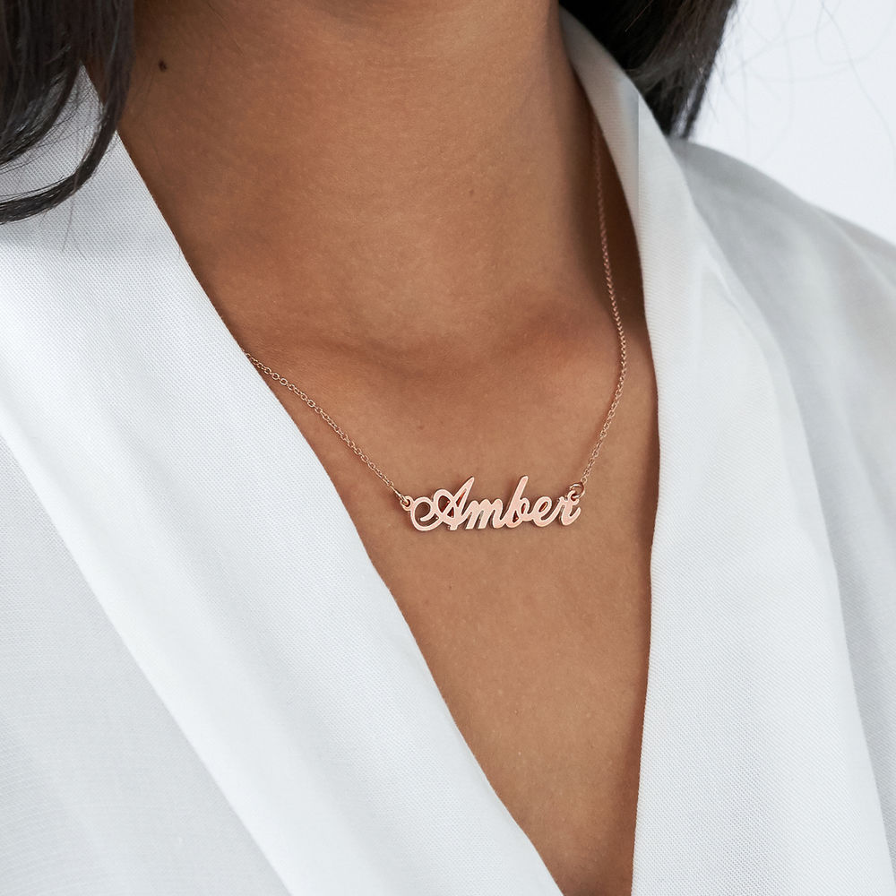 Collar Clásico Pequeño con Nombre Chapado en Oro 18k - 3