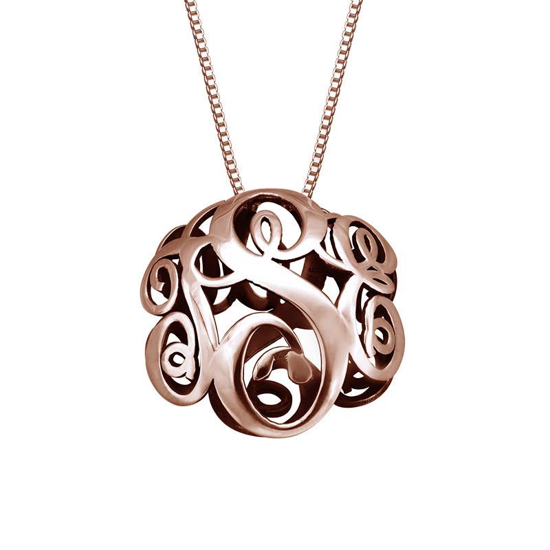 Collar Monograma 3D en oro Rosa