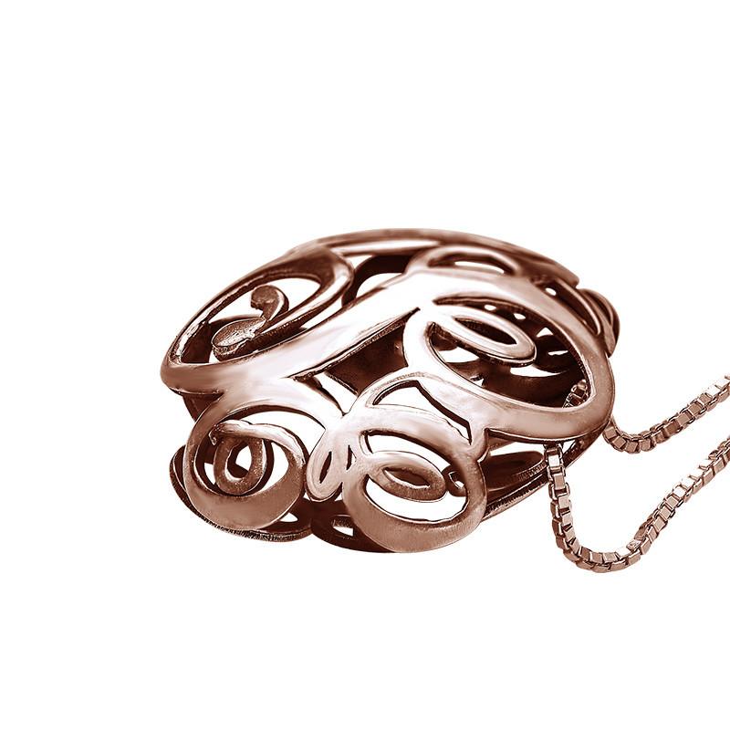 Collar Monograma 3D en oro Rosa - 1