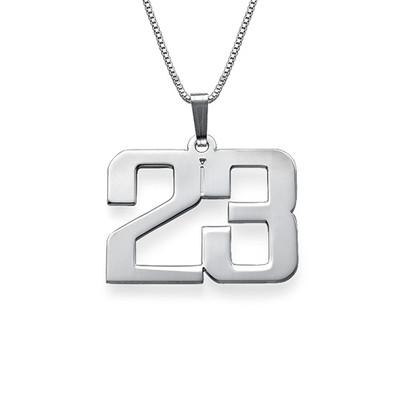 Collar Número para Hombre en plata de ley