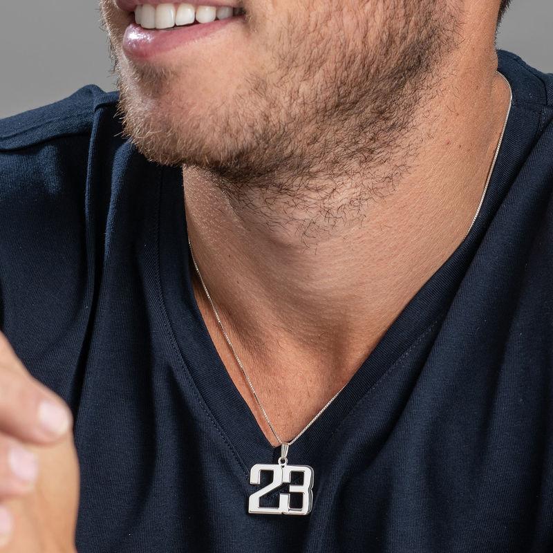 Collar Número para Hombre en plata de ley - 2