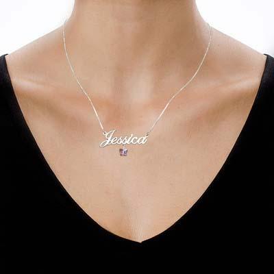 Collar con Nombre y Mariposa Swarovski - 1