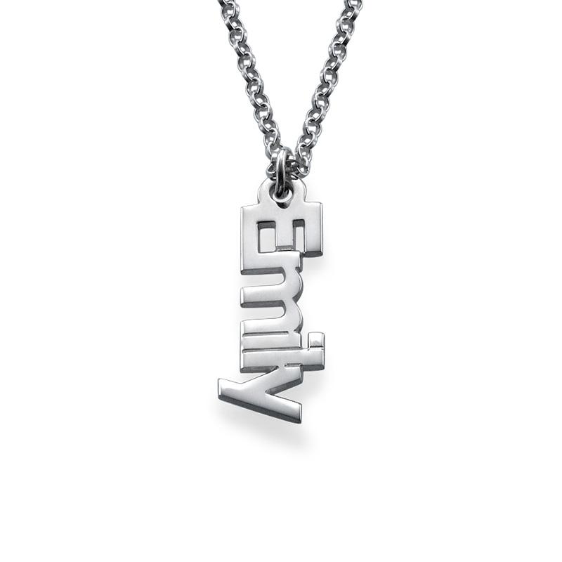 Collar con nombres verticales de plata - 1