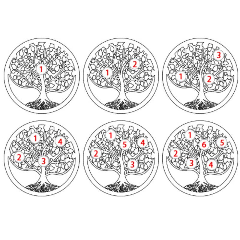 Anillo Árbol de la Familia con piedras de Nacimiento - 4
