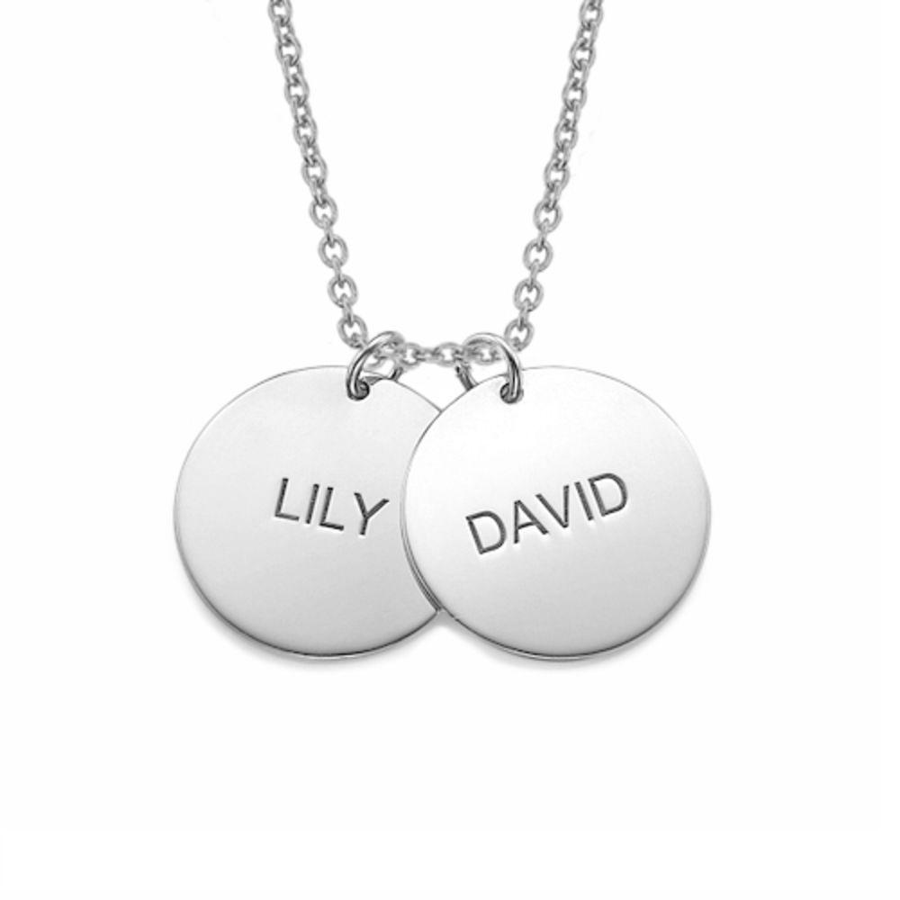 Una joya para Mamá - Collar Personalizado con Disco de Plata